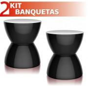 KIT 2 BANQUETAS HYDRO COLOR PRETO