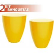 KIT 2 BANQUETAS MOLY COLOR AMARELO