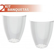 KIT 2 BANQUETAS MOLY COLOR CRISTAL