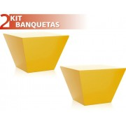 KIT 2 BANQUETAS NEO COLOR AMARELO