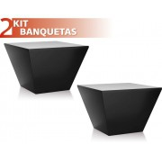 KIT 2 BANQUETAS NEO COLOR PRETO