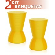 KIT 2 BANQUETAS NICK COLOR AMARELO