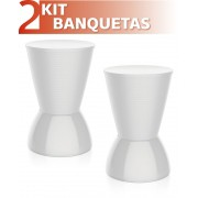 KIT 2 BANQUETAS NICK COLOR BRANCO