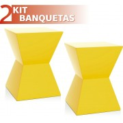 KIT 2 BANQUETAS NITRO COLOR AMARELO