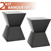 KIT 2 BANQUETAS NITRO COLOR PRETO