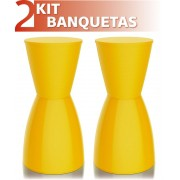 KIT 2 BANQUETAS NOBE COLOR AMARELO