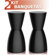 KIT 2 BANQUETAS NOBE COLOR PRETO
