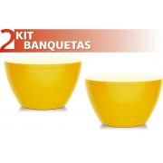 KIT 2 BANQUETAS OXY COLOR AMARELO