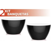 KIT 2 BANQUETAS OXY COLOR PRETO