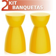 KIT 2 BANQUETAS RAD COLOR AMARELO