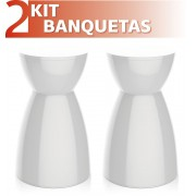 KIT 2 BANQUETAS RAD COLOR BRANCO