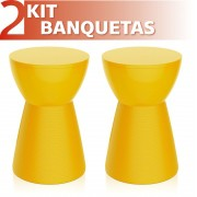 KIT 2 BANQUETAS SILI COLOR AMARELO