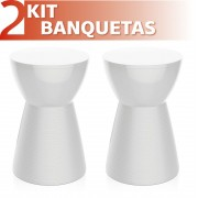 KIT 2 BANQUETAS SILI COLOR BRANCO