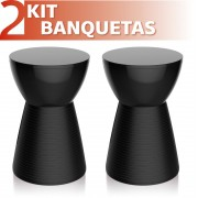 KIT 2 BANQUETAS SILI COLOR PRETO