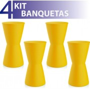 KIT 4 BANQUETAS DUB COLOR AMARELO