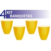 KIT 4 BANQUETAS MOLY COLOR AMARELO