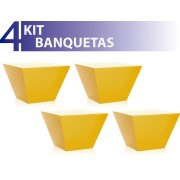 KIT 4 BANQUETAS NEO COLOR AMARELO