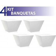 KIT 4 BANQUETAS NEO COLOR BRANCO