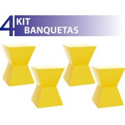 KIT 4 BANQUETAS NITRO COLOR AMARELO