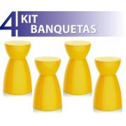 KIT 4 BANQUETAS RAD COLOR AMARELO