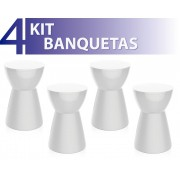 KIT 4 BANQUETAS SILI COLOR BRANCO