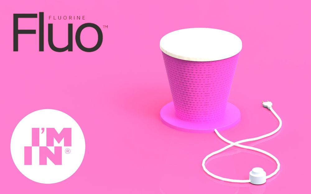 ABAJUR FLUO COM DISCO TRANSLUCIDO