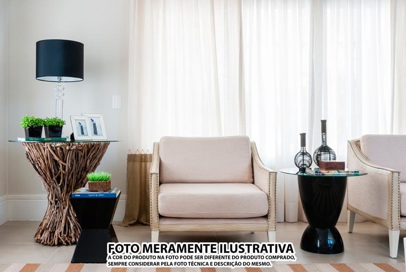 BANQUETA ARGO ASSENTO CRISTAL BASE COLOR PRETA