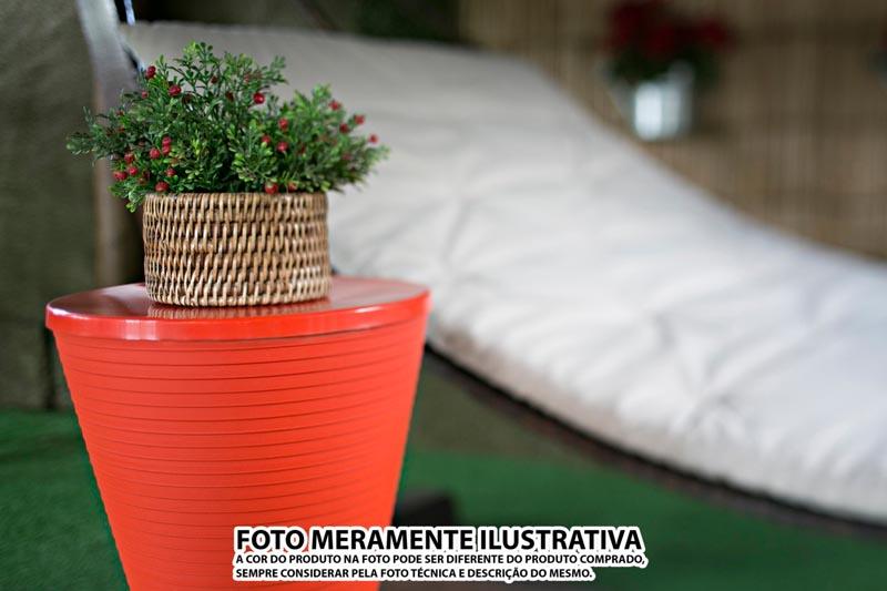 BANQUETA FLUO COLOR VERMELHA