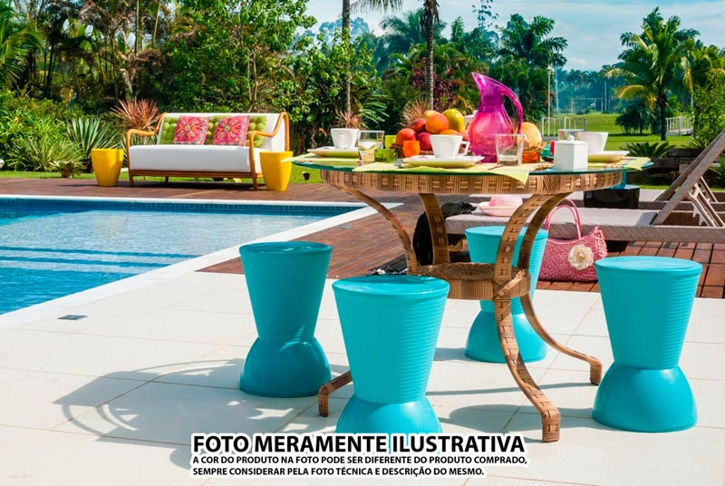 BANQUETA NICK ASSENTO COLOR BASE CRISTAL VERDE