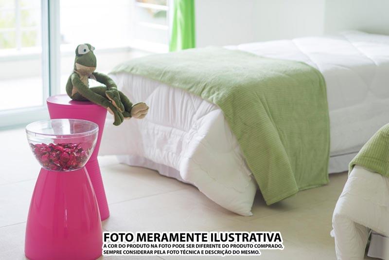 BANQUETA RAD ASSENTO COLOR BASE CRISTAL VERMELHA