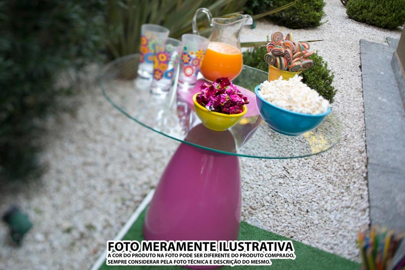 BANQUETA RAD ASSENTO CRISTAL BASE COLOR ROSA