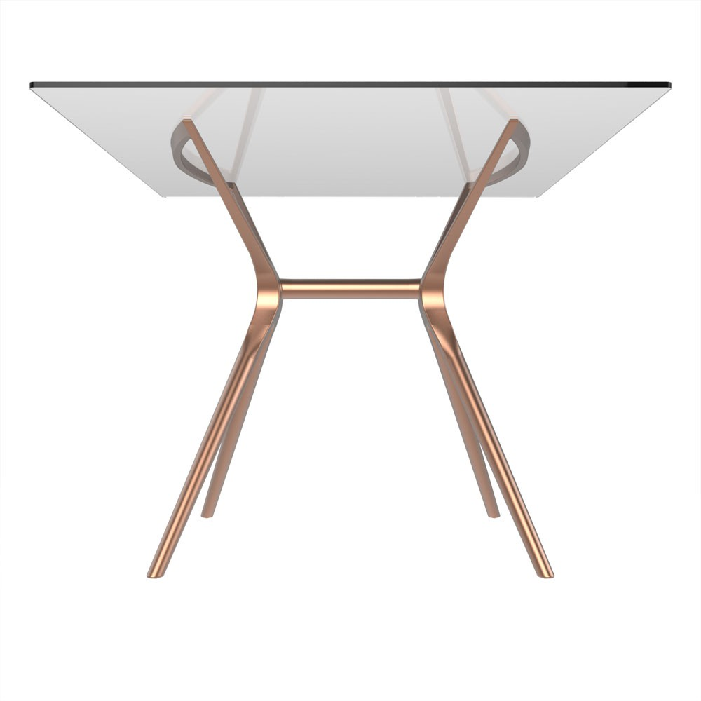 Base de mesa Baletto 4 lugares tampo de vidro não incluso rosé