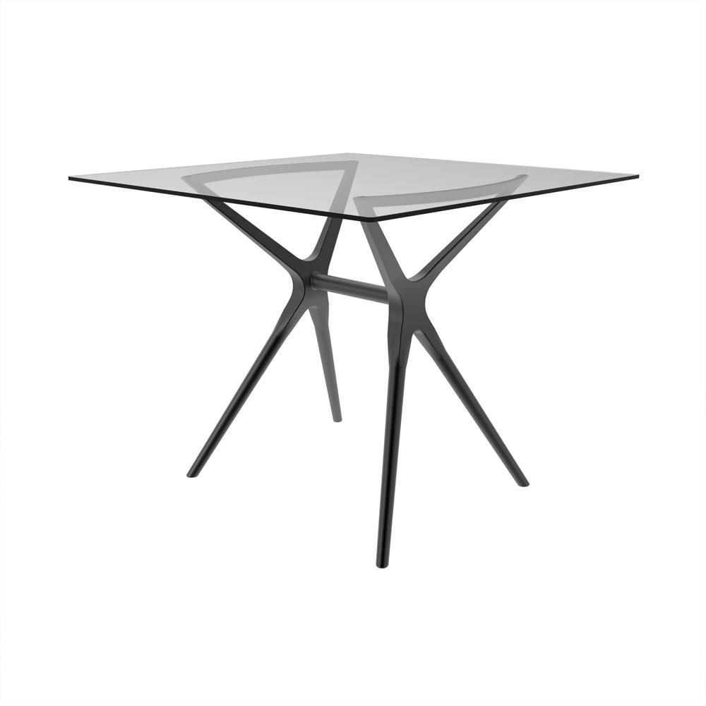 Base de mesa Baletto 4 lugares tampo de vidro não incluso titânio