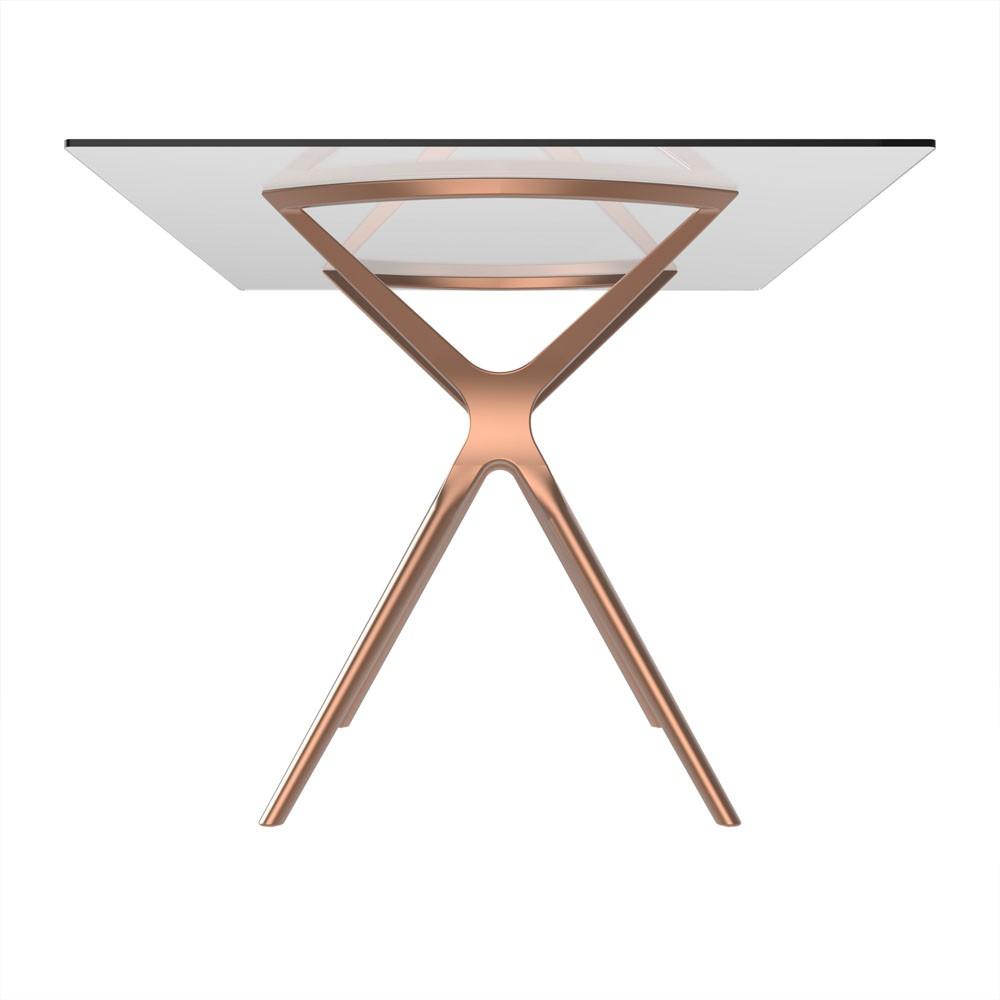 Base de mesa Baletto 6 lugares tampo de vidro não incluso rosé