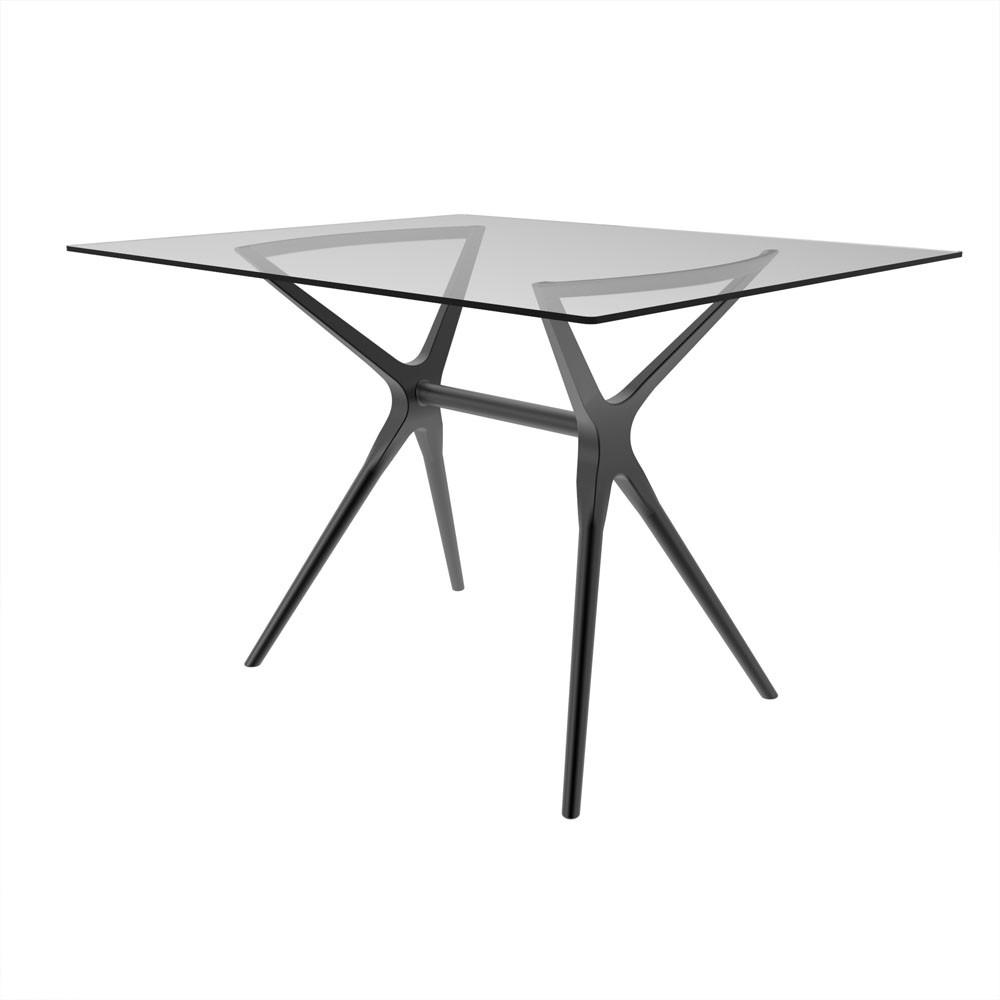 Base de mesa Baletto 6 lugares tampo de vidro não incluso titânio