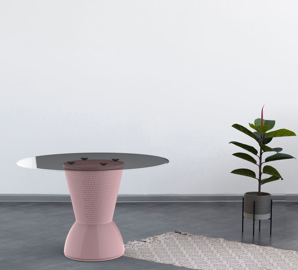 Base de mesa Nick colorida calla rose