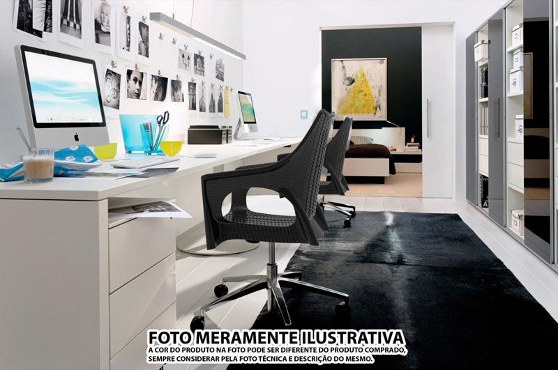CADEIRA RELIC OFFICE ( RODÍZIO BRANCO) MARFIM