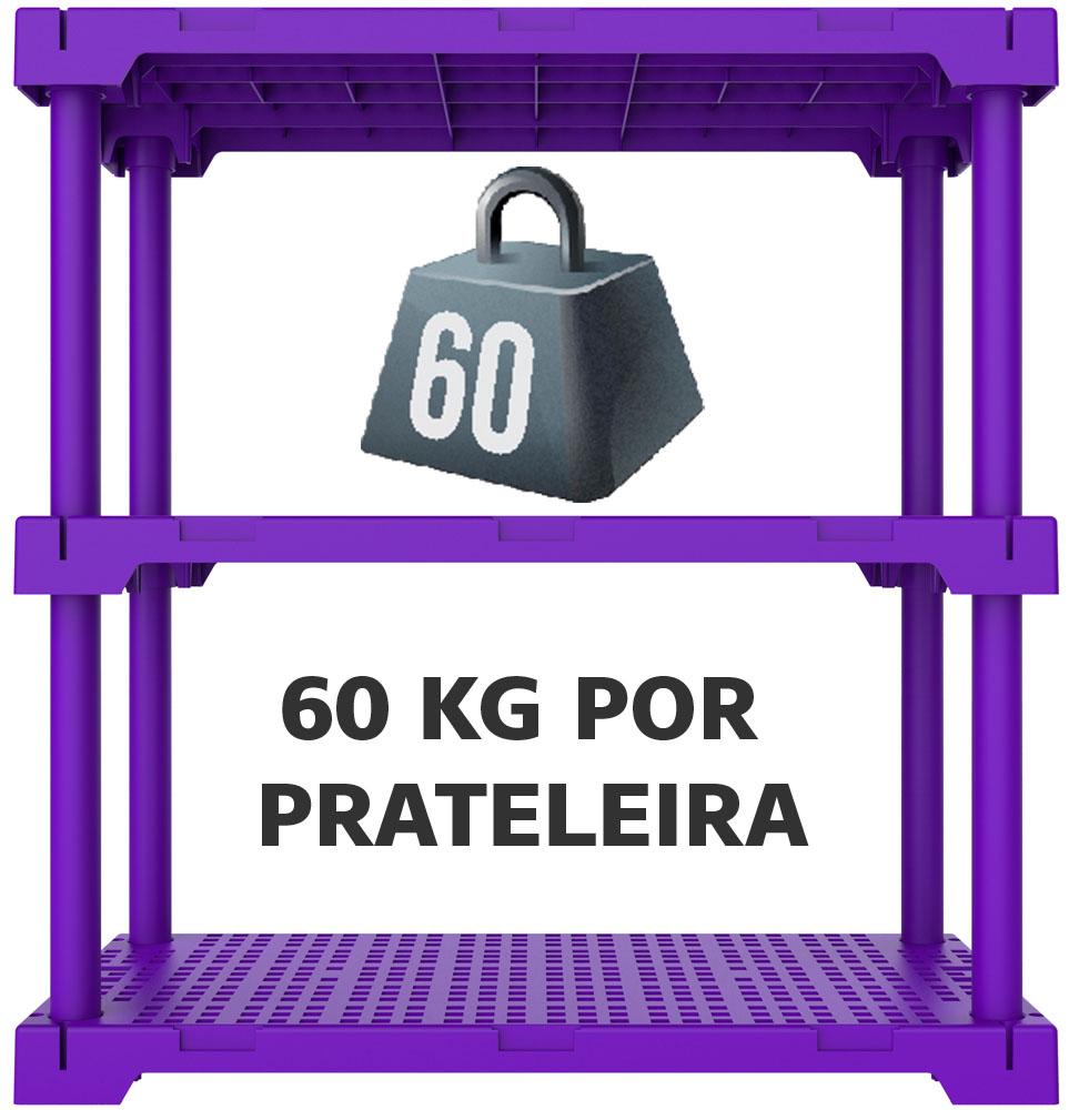 ESTANTE CUBE 3 ROXA