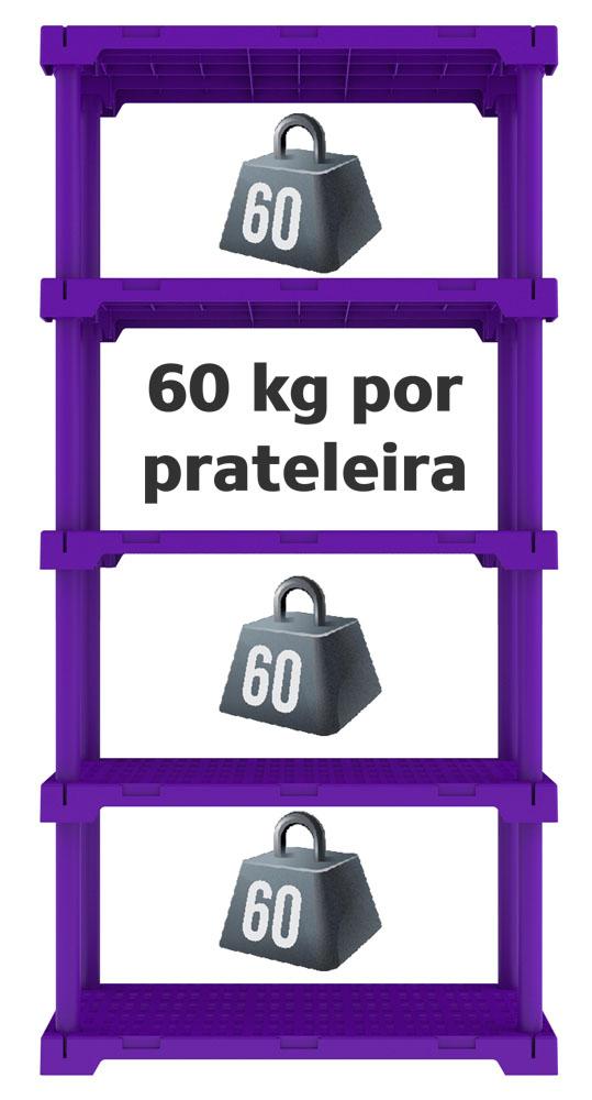 ESTANTE CUBE 5 ROXA