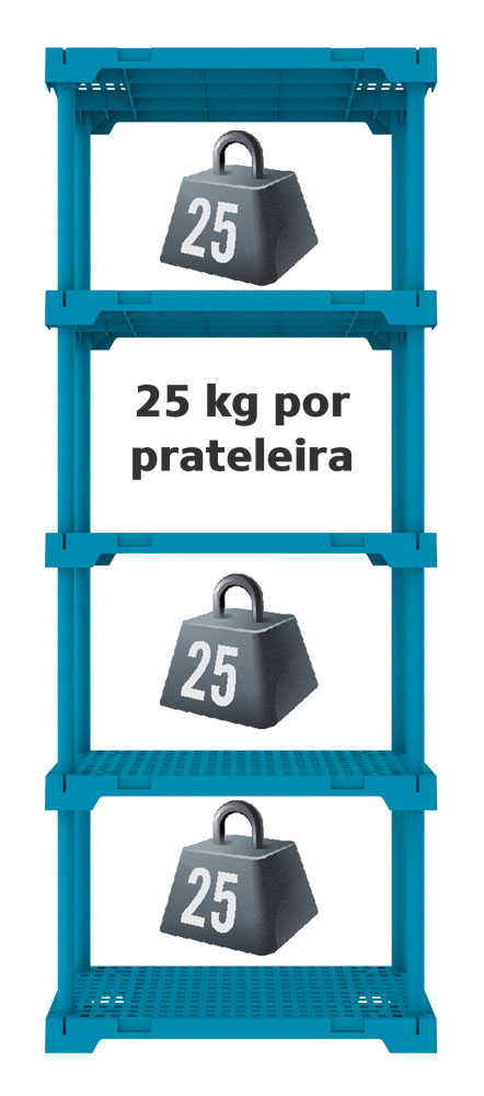 ESTANTE POLY 5 AZUL