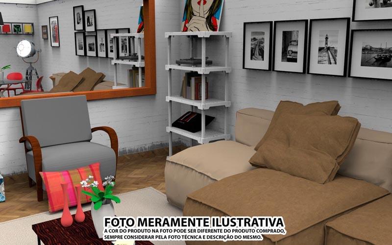 ESTANTE POLY 5 AZUL