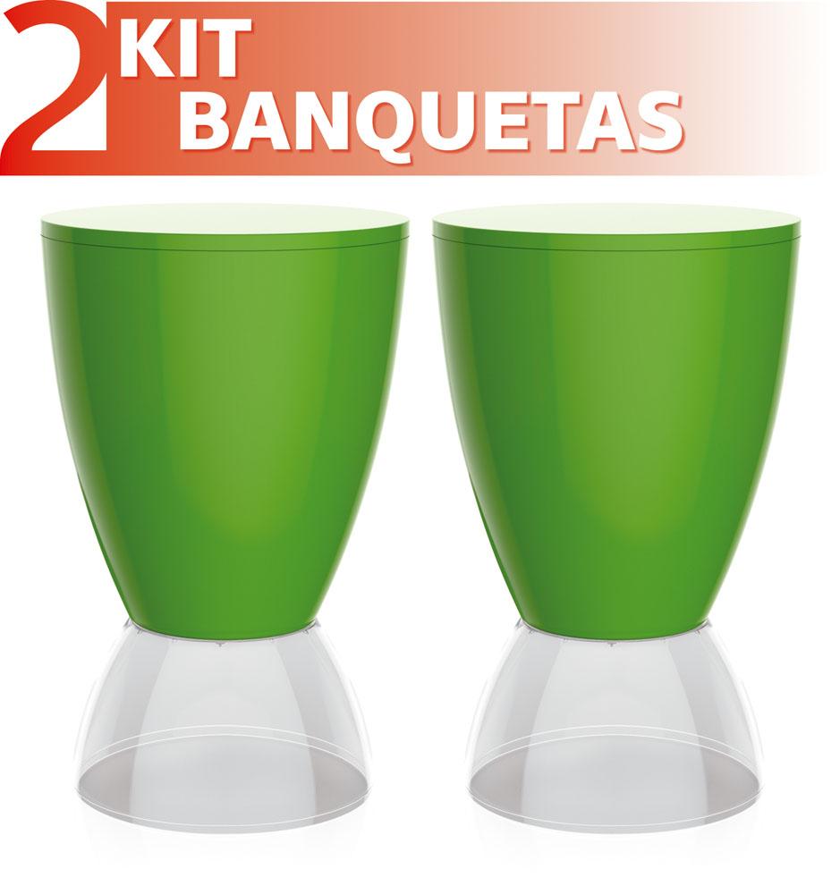 KIT 2 CADEIRAS SLICK COM BRAÇO BRANCO