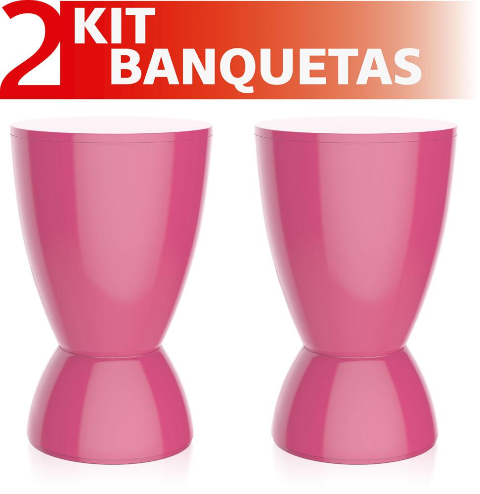 KIT 4 BANQUETAS OXY COLOR ROXO