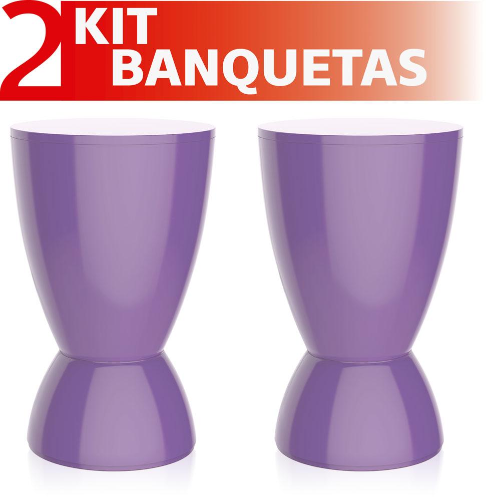 KIT 2 BANQUETAS ARGO COLOR ROXO