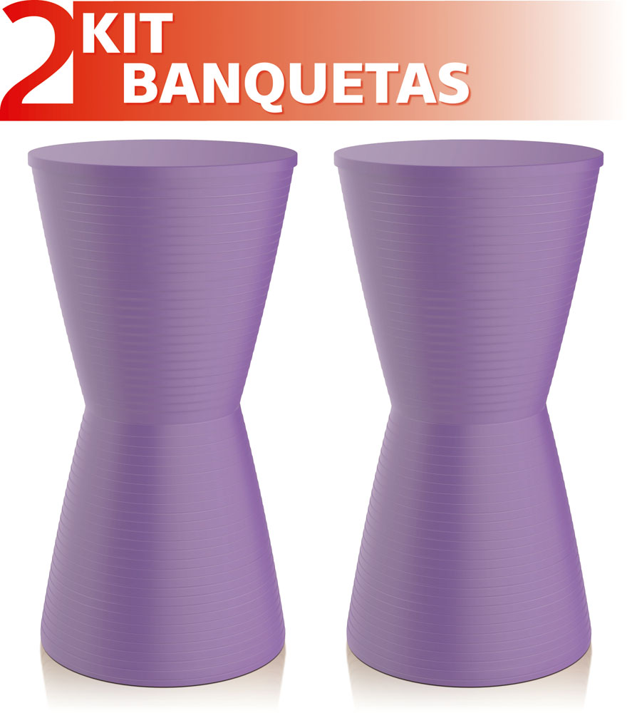 KIT 2 BANQUETAS DUB COLOR ROXO