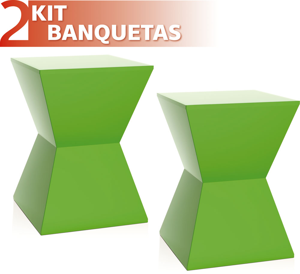KIT 2 BANQUETAS NITRO COLOR VERDE