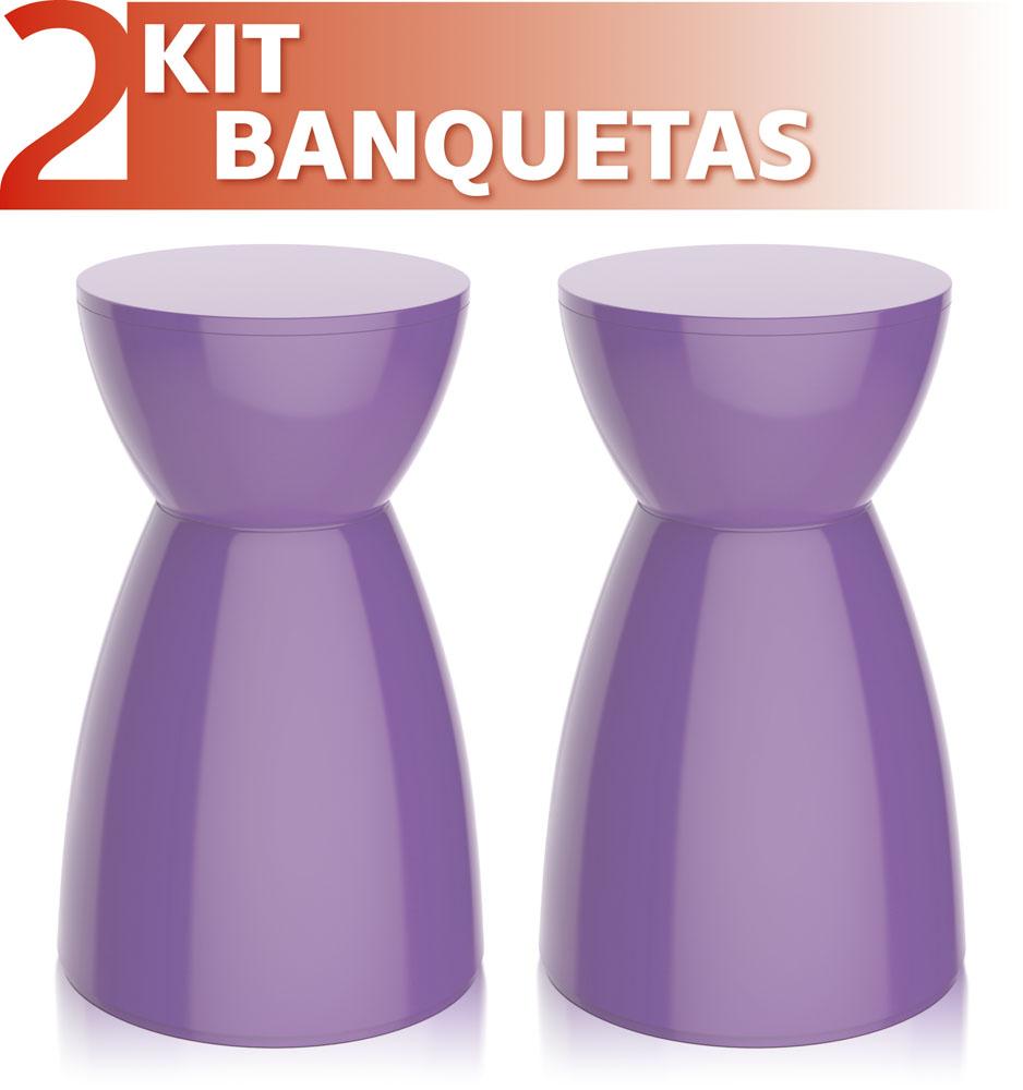 KIT 2 BANQUETAS RAD COLOR ROXO