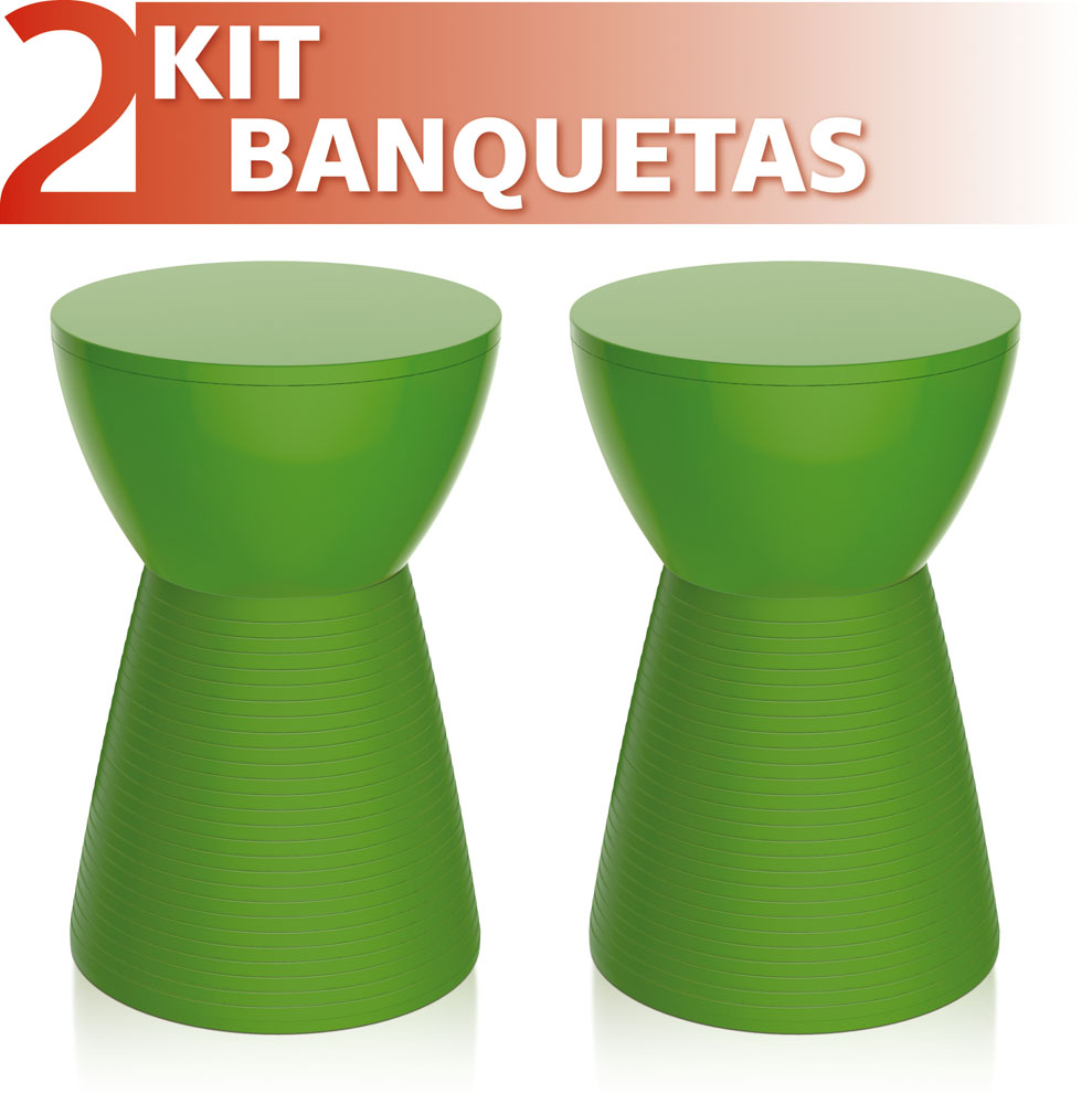 KIT 2 BANQUETAS SILI COLOR VERDE