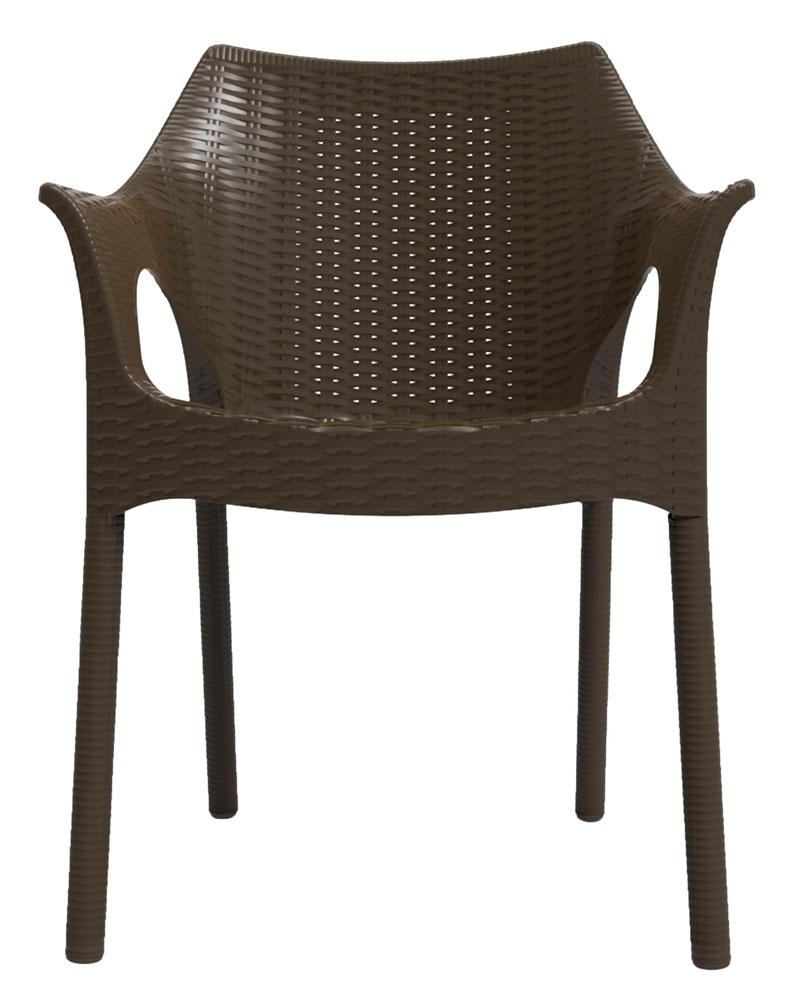 Kit 2 Cadeiras Relic marrom chocolate