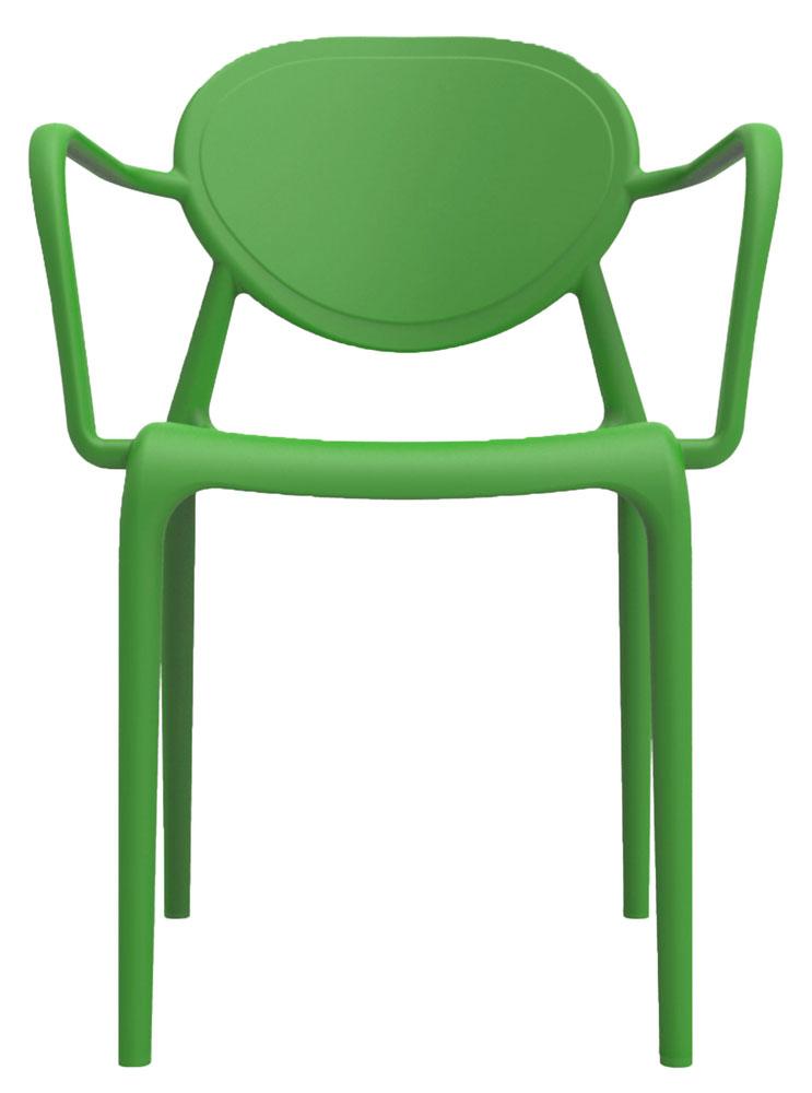 Kit 2 Cadeiras Slick com braço verde